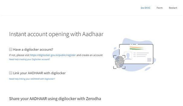 Step 5 - Open Demat Account in Zerodha
